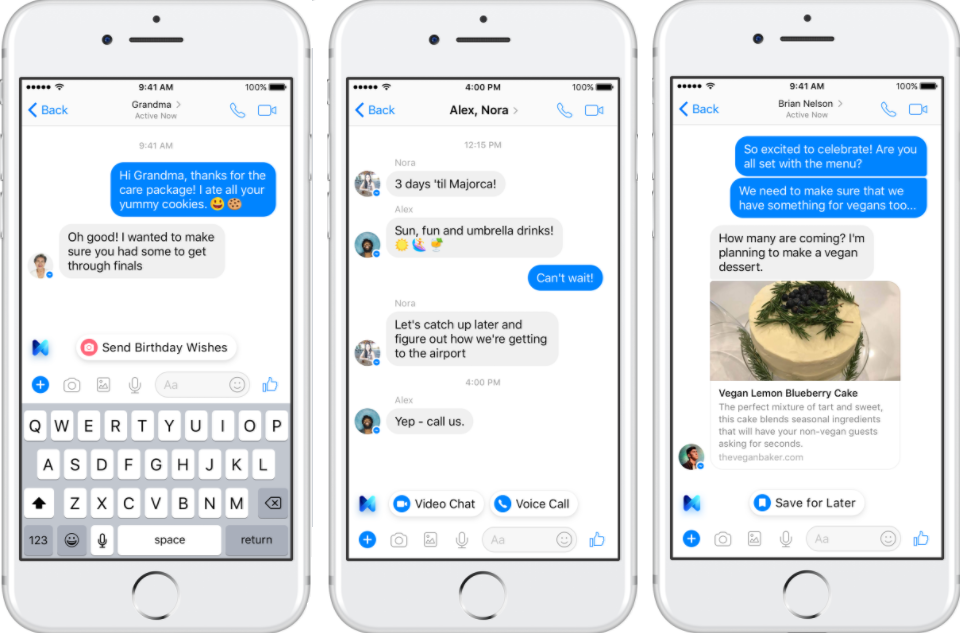 Facebook Adds New Functionality to M Virtual Assistant, Expanding Use Case for Bots | Social Media Today