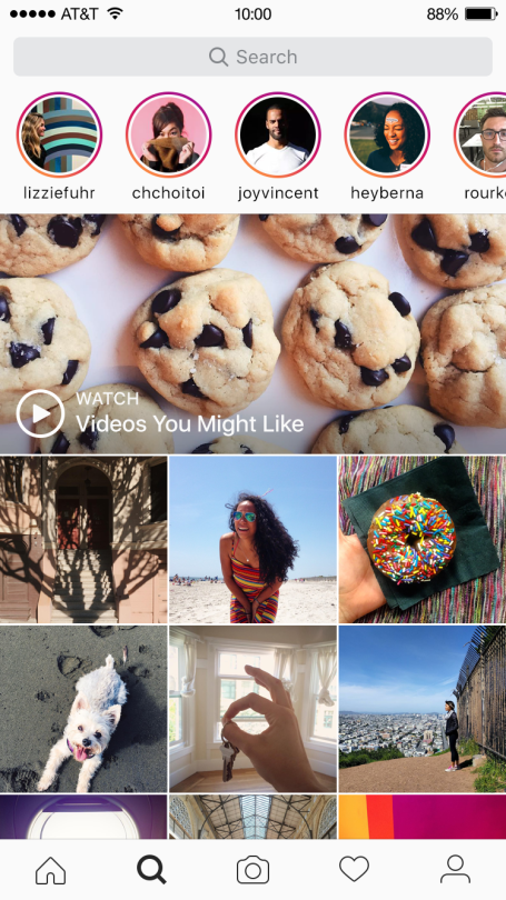 Instagram Adds Stories to Explore Tab, Making it Easier to Discover Stories Content | Social Media Today