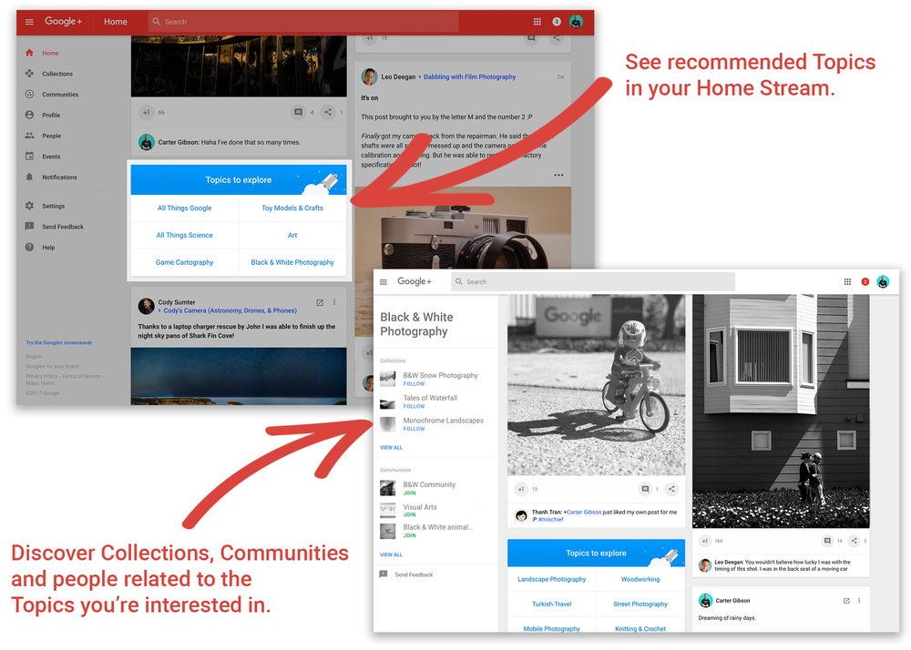 Google Releases 'Topics' for Google+ to Boost Content Discovery | Social Media Today