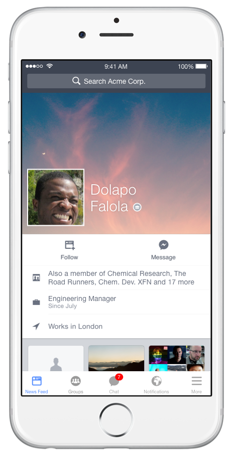 Facebook at Work is Coming - New Images Show How it Will Work | Social Media Today