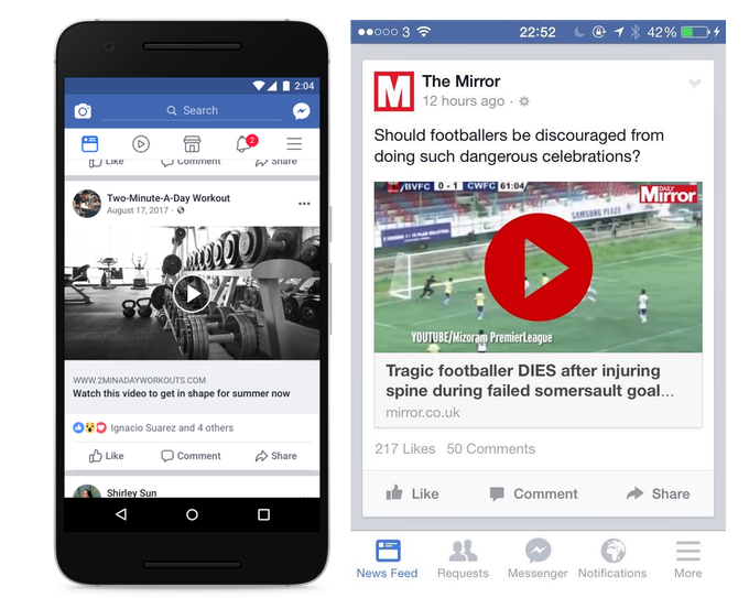 Facebook Cracks Down on Static Images as Video and Fake Video Play Buttons with New Algorithm Update | Social Media Today
