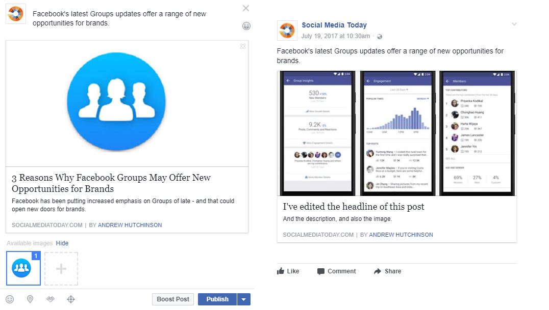 Facebook's Removing the Ability to Edit Link Previews - Here are the Alternatives | Social Media Today