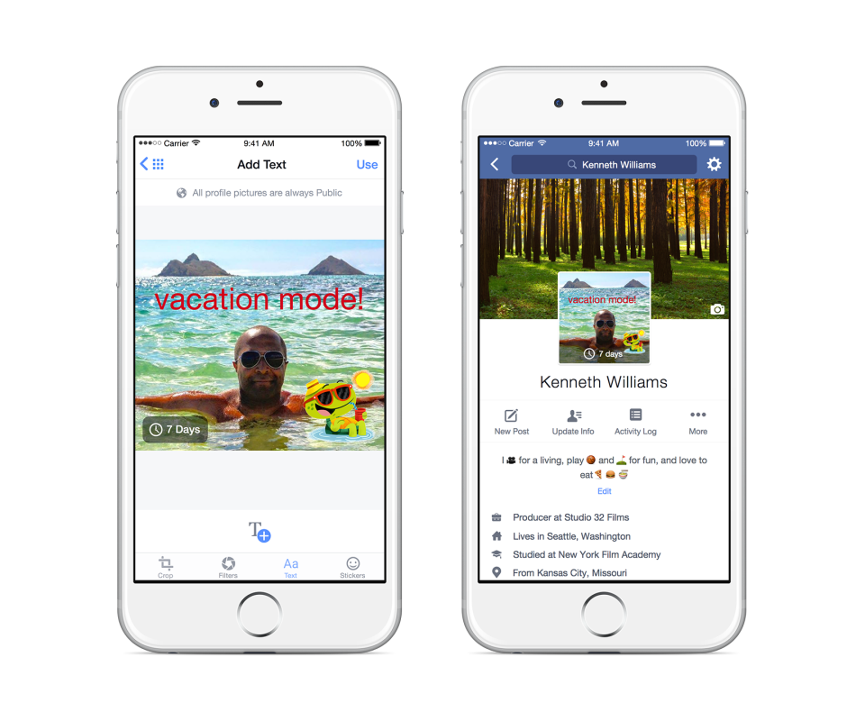 Facebook's Rolling Out a Major Update to Profiles - Including Animated Profile Images | Social Media Today