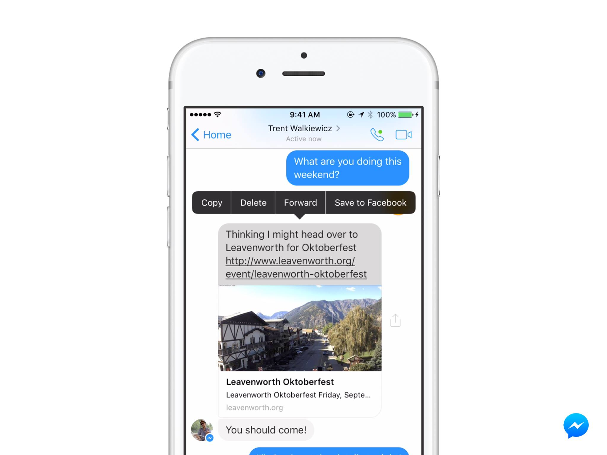 Facebook has announced that users can now save links from Messenger, a small but functional update to help users keep track of content when they're on the go.
